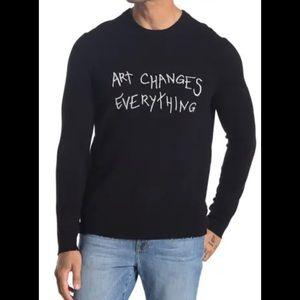 Zadig & Voltaire Liam Art Graphic Cashmere Sweater
